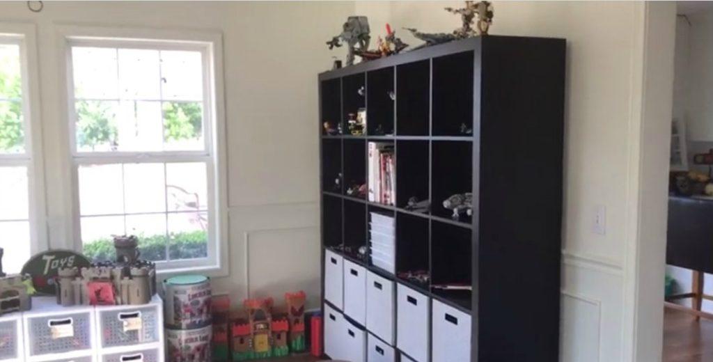 Playroom Transformation - Lego Organizing Solution