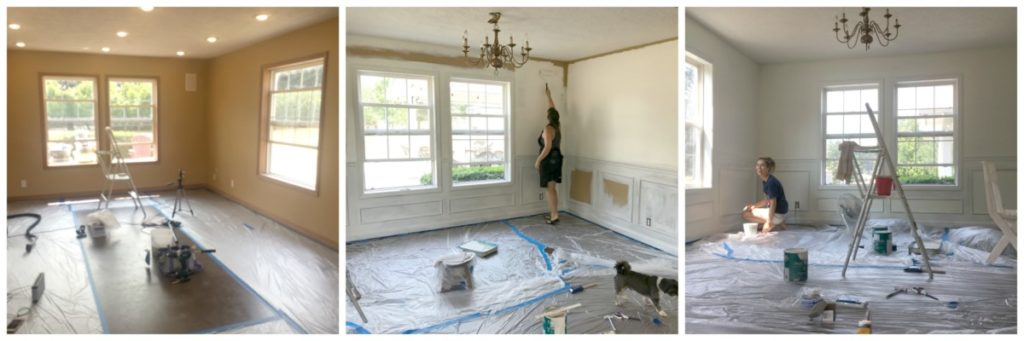 Playroom Transformation - Painting Before and After