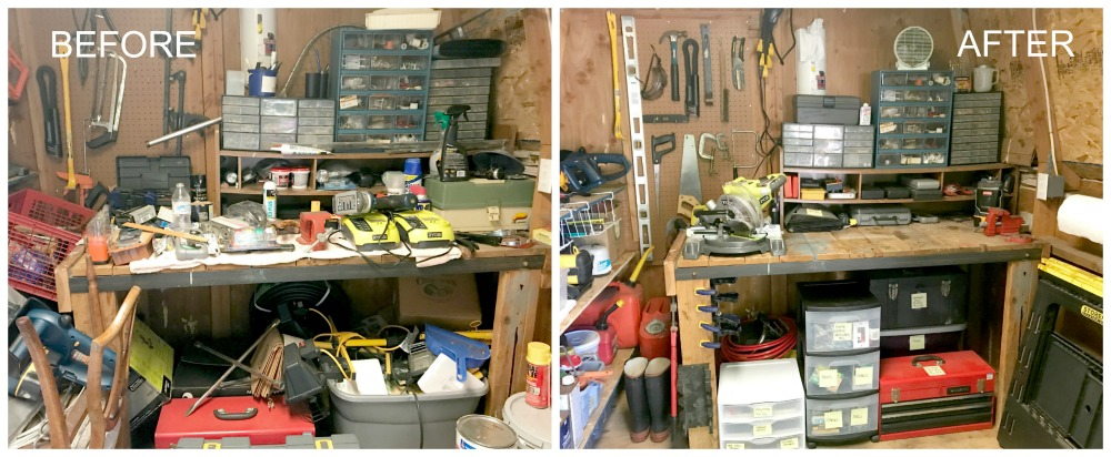 Shed-Organization-Ideas-Workbench-Before-and-After
