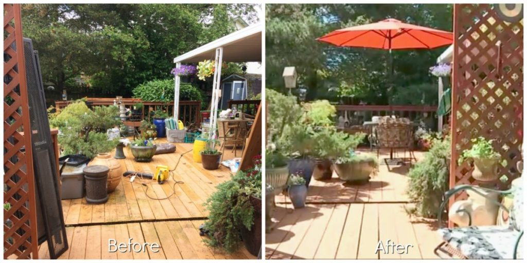 Transforming Cluttered Outdoor Space Before and After