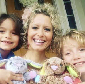Vicki Norris and her boys