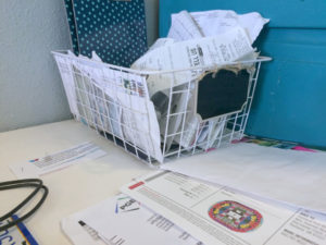basket of receipts